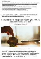 20200707 La majorité des dirigeants du CAC 40 a revu sa rémunération à la baisse, Rémunération – Les Echos Executives