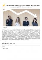 20200713 Les salaires des dirigeants cessent de s'envoler – Info socialRH.fr