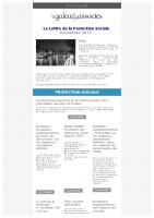 La lettre de la protection sociale Décembre 2017