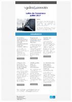 La lettre de l'assurance juillet 2017